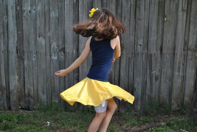 Sweet Pea Circle Skirt 004