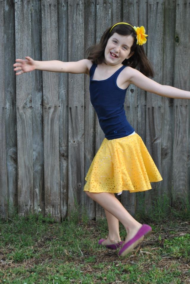 Sweet Pea Circle Skirt 014